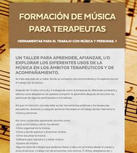Herramientas para el trabajo con música para terapeutas.